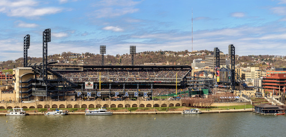 Dave Dicello Photography Pnc Park Panorama Of Pnc Park On The Pittsburgh Pirates Opening Day 2016 Print