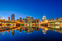 Reflections of the Pittsburgh skyline on the North Shore HDR