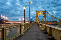 Walking across the Roberto Clemente Bridge on Opening Day 2015