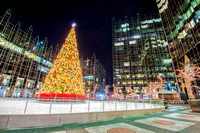 The Christmas Tree at One PPG Place in Pittsburgh HDR