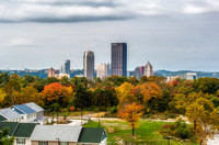 A view of Pittsburgh from the campus of the University of Pittsburgh