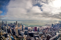 A view of Lake Michigan from the Willis Tower HDR