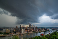 A stormy sky over Pittsburgh