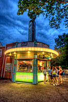 Waiting at an ice cream stand at Kennywood Park in Pittsburgh