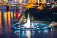 The Fountain at Point State Park in Pittsburgh at night