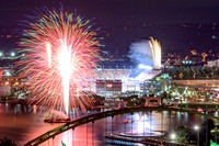 Fireworks before a Steelers game at Heinz Field