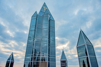 The iconic spires atop PPG Place