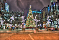 Christmas tree and PPG Place HDR