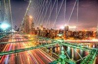 Brooklyn Bridge road HDR