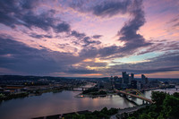 A colorful sunrise in Pittsburgh from Mt. Washington