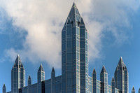 The spires of PPG Place in Pittsburgh