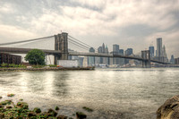 Lower Manhattan skyline from Brooklyn Bridge Park HDR