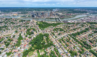 Aerial view of Pittsburgh above Mt. Washington
