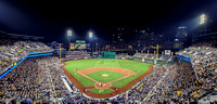PNC Park and the Pittsburgh skyline at night