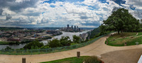 Panorama of the West End Overlook and Pittsburgh on a sunny day