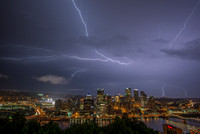 Lightning over Pittsburgh from Mt. Washington in the Spring 2014 025
