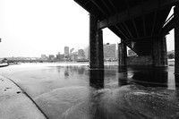 A dreary morning on the North Shore of Pittsburgh