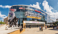 Panorama of the outside of CONSOL Energy Center during the Stanley Cup Finals