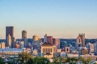 Pittsburgh skyline at dusk from Fineview HDR