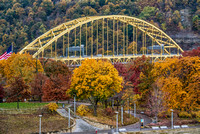 Ft. Pitt Bridge and fall colors in Pittsburgh