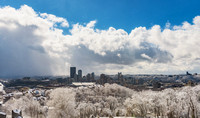 A snow squall moves through Pittsburgh