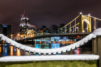 A snowy chain on Pittsburgh's North Shore