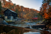 The Mill and covered bridge at McConnells Mill State Park HDR