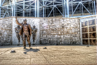 Joe Paterno statue at Penn State HDR