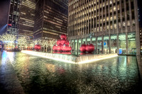 Christmas ornament sculpture in New York City HDR