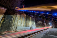 Light trails on the Mon Incline and PJ McCardle in Pittsburgh
