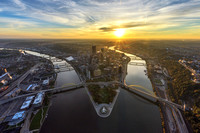 Aerial views of Pittsburgh