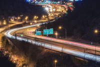 Light Trails on 279 at night in Pittsburgh
