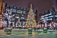 Christmas tree at PPG Place HDR