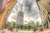 Market Square and PPG Place fisheye HDR