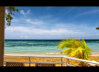 View from the beach bar in Jamaica HDR
