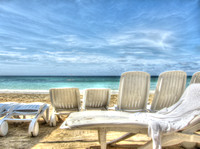 Beach chairs in Jamaica HDR