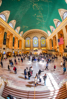People rushing around Grand Central Terminal in New York City