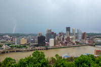 Lightning strikes over Pittsburgh during a storm (3 of 8)