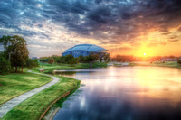 Cowboys Stadium from Richard Greene Linear Park HDR
