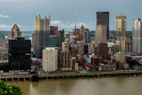 Lightning strikes over Pittsburgh during a storm (6 of 8)