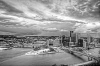 View of Pittsburgh from the Duquesne Incline B&W HDR
