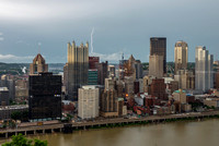 Lightning strikes over Pittsburgh during a storm (7 of 8)