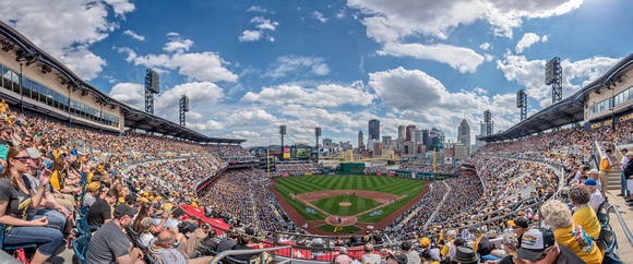 Panorama of PNC Park on Opening Day 2015 in Pittsburgh