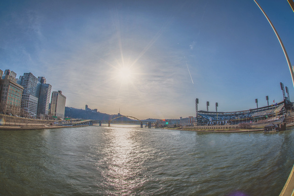 The sun shines bright over PNC Park