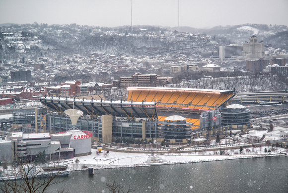 Image result for heinz field snow