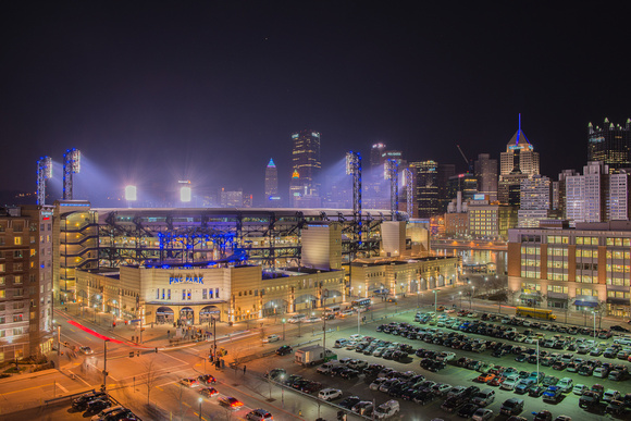 PNC Park and the Pittsburgh skyline
