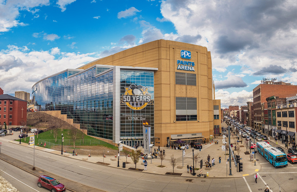 Panorama of PPG Paints Arena in Pittsburgh