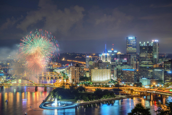 Fireworks in Pittsburgh after a Pittsburgh Pirates game at PNC Park