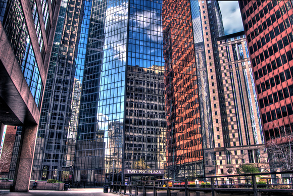 PNC Plaza reflections HDR