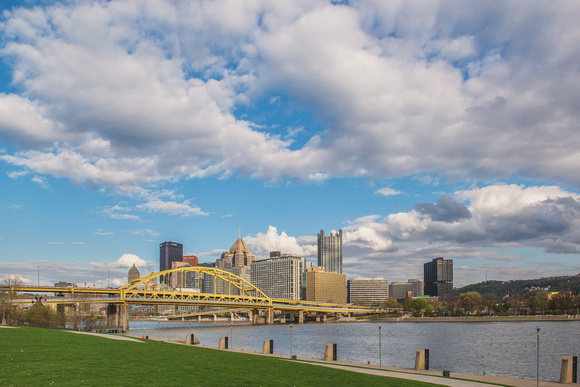 A sunny day from the North Shore of Pittsburgh